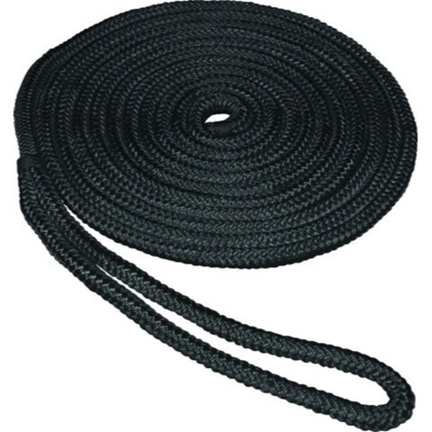 SeaSense 0.5 in x 25 ft Double Braid Dockline-Black