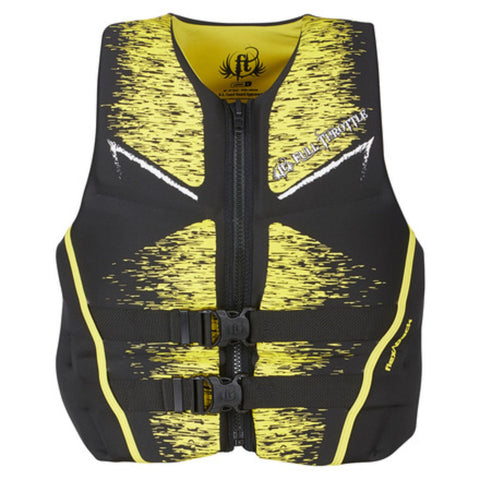 Full Throttle Mens Life Jacket Rapid-Dry Flex-Back-Yellow-L