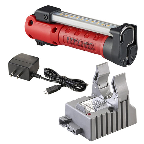 Streamlight Strion Switchblade Work Light w Charger Holder-Red