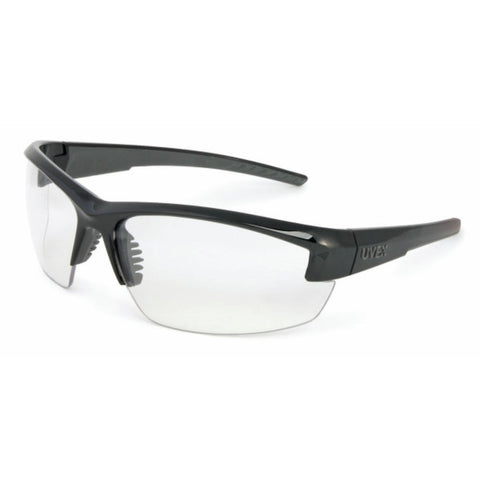 Leight Mercury Black Frame Clear Lens w Microfiber Bag