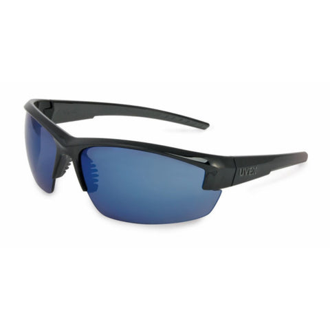 Leight Mercury Black Frame Blue Mirror Lens w Microfiber Bag
