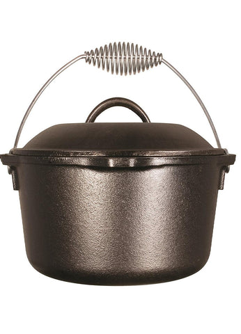 Lodge 10in Cast Iron Dutch Oven Pre-Seasoned 5-Quart