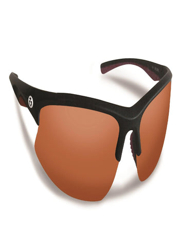 Flying Fisherman Drift Matte Black Frame w-Copper Sunglasses