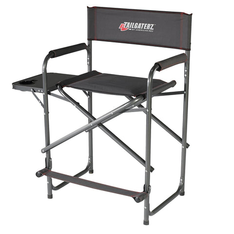 Tailgaterz Take Out Seat with Side Table in Gameday Graphite