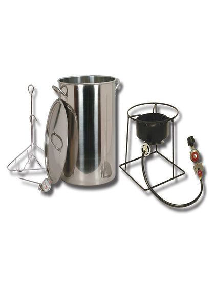King Kooker #SS1267-30 Qt. Stainless Steel Turkey Fryer Pkg