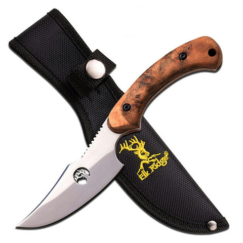 Tom Anderson Fixed Blade 8in Burl Wood Handle with Sheath