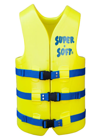TRC Recreation Adult Super Soft USCG Vest Large - Yellow
