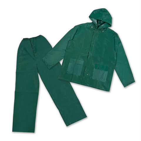 Stansport Mens Rain Suit with Hood - Green Small