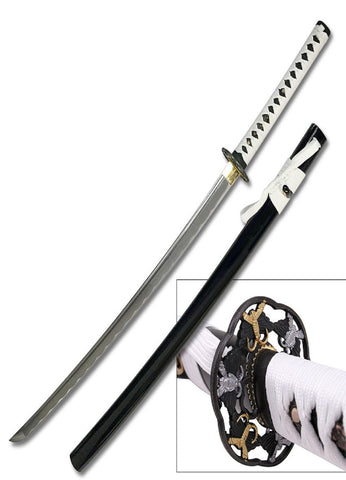 TenRyu Handmade Sword 42in Overall w- Painted Wood Scabbard