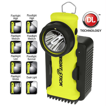 Nightstick Angle Light Rechargeable Yellow 200 Lumens