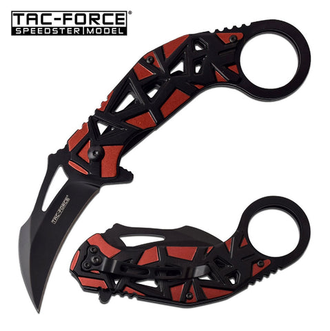 Tac-Force Assisted Karambit 2.5 in Blade Red Aluminum Handle
