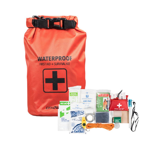 Life Gear 130PC First Aid Survival Kit and Dry Bag