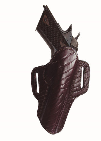 Tagua Premium Open Top Belt Holster Glock 26 - Burgundy