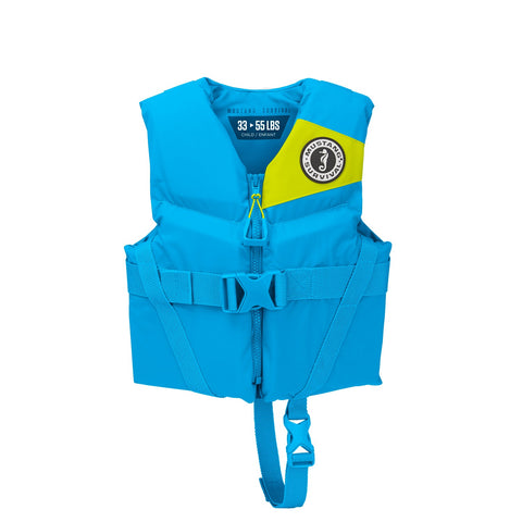 Mustang Survival Rev Child Foam Vest Azure Blue 30-50 LBS