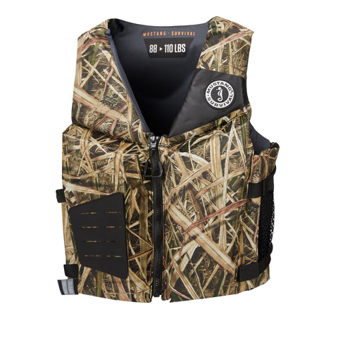 Mustang Survival Rev Young Adult Foam Vest Camo 90 Plus LBS