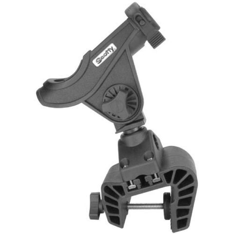 Scotty Baitcaster Rod Holder w-449 Clamp Mount Black