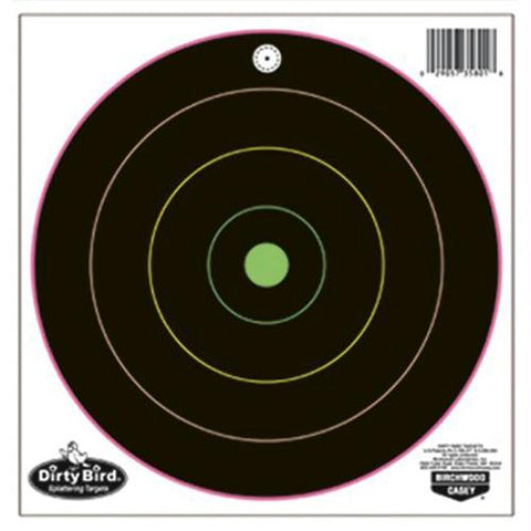 "Birchwood Casey Dirty Bird MulClr 10-12"" Bullseye Trgts 10PK"