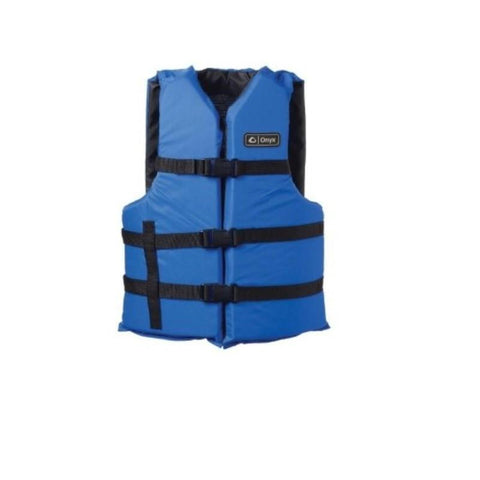 Onyx Universal Adult Extra-Large Boating Vest Blue 2XL- 4XL