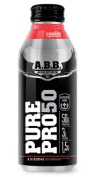 ABB Pure Pro 50, Strawberry, 14.5 Oz X 12 Bottles