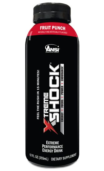 ANSI - Xtreme Shock RTD Energy Drink, Fruit Punch, 12 fl.oz, 12 Count