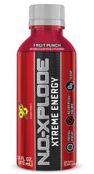 BSN N.O-Explode Ready Extreme Energy RTD, Fruit Punch, 16 oz Bottle 12 Count