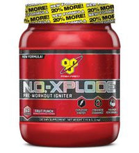 BSN N.O. - Xplode Pre-Workout Igniter, Fruit Punch, 2.45 lbs 60 Servings