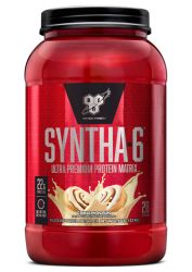 BSN SYNTHA-6 Whey Protein Powder, Micellar Casein, Milk Protein Isolate Powder, Cinnamon Bun, 28 Servings