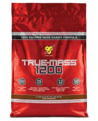 BSN TRUE-MASS 1200 Muscle Mass Gainer Protein Powder, Chocolate, 10 lbs