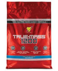 BSN TRUE-MASS 1200 Muscle Mass Gainer Protein Powder, Vanilla, 10 Lbs