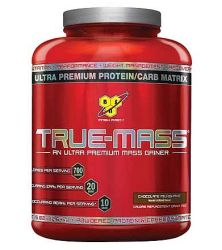 BSN True-Mass Ultra Premium Muscle Mass Gainer Chocolate 5.82 lbs 16 Servings