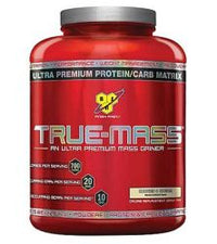 BSN True-Mass Ultra Premium Muscle Mass Gainer Cookies N Cream 5.82 lbs 16 Servings