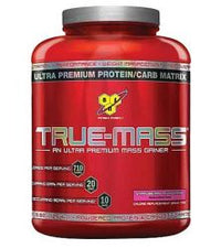 BSN True-Mass Ultra Premium Muscle Mass Gainer Strawberry 5.82 lbs 16 Servings