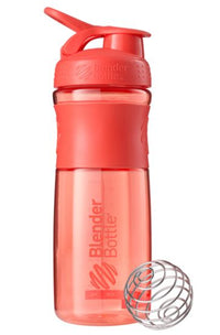 Blender Bottle 28oz SportMixer Tritan Grip Water Bottle Shaker Cup Coral