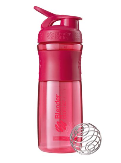 Blender Bottle 28oz SportMixer Tritan Grip Water Bottle Shaker Cup, Pink