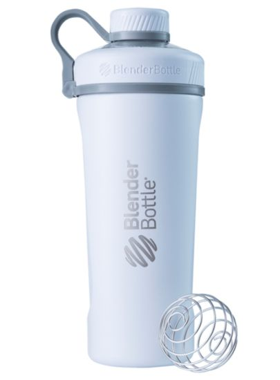Blender Bottle Radian Insulated Stainless Steel Shaker Bottle, Matte White, 26-Ounce
