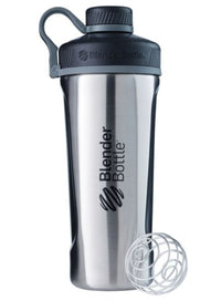 Blender Bottle Radian Insulated Stainless Steel Shaker Bottle, Natural/Black, 26-Ounce