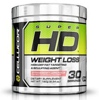 Cellucor, Super HD Thermogenic Fat Burner Powder for Weight Loss, Strawberry Lemonade G4 Energy
