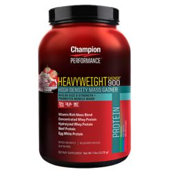 Champion Performance - Heavyweight Gainer 900 Protein Powder - Vanilla Ice Cream - 7 lbs.
