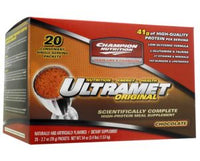 Champion Performance - UltraMet High Protein Meal Supplement - Strawberry - Promotes Improved Nutrition and Supports Muscle Recovery - 20 Packets (76g Each)