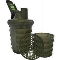 Grenade Unique Shaker Cup With Powder & Capsule Storage Green!