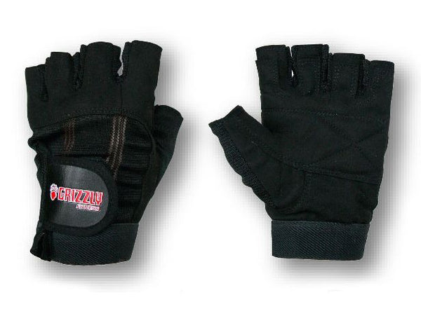 Grizzly Fitness Men's Washable Sport & Fitness Nylon Gloves - Gym Weight Lifting - Large
