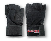 Grizzly Fitness Power Paw Leather Training Gloves - Black - Large