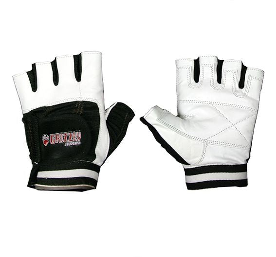 Grizzly Fitness White Grizzly Paw Training Gloves SM