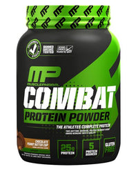 MusclePharm Combat Protein Powder, Chocolate PB - 2 lb jar