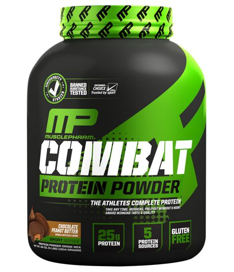 MusclePharm Combat Protein Powder® Chocolate Peanut Butter - 4 lbs