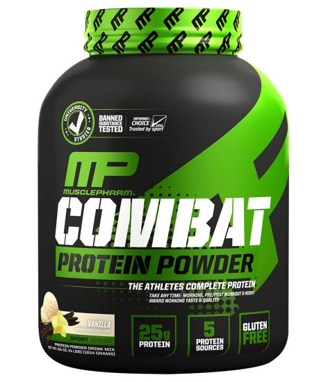 MusclePharm Combat Protein Powder® Vanilla - 4 lbs