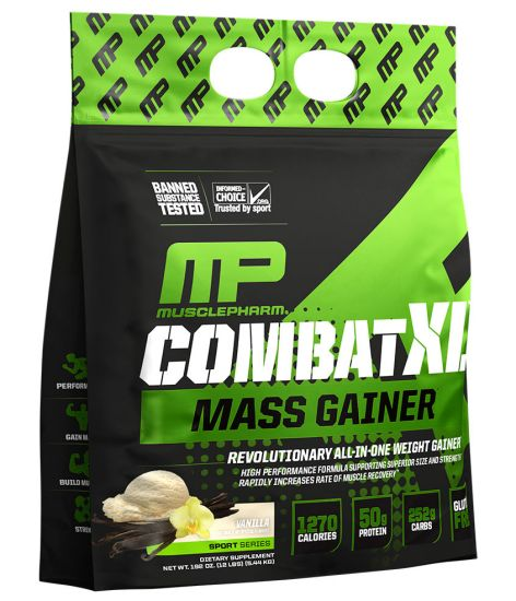 MusclePharm Combat XL Mass Gainer - VANILLA (12 Pound Powder)