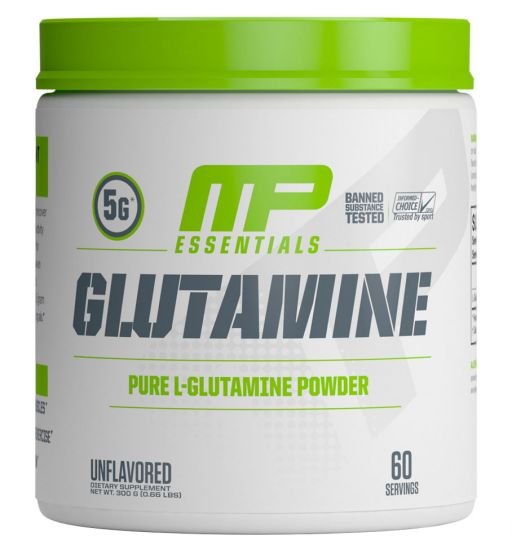 MusclePharm Essentials 100% Pure Glutamine Powder, Muscle Growth and Recovery, L-Glutamine Powder, Promotes Recovery after Intense Exercise, Helps Repair Muscles 300grs 60 servings