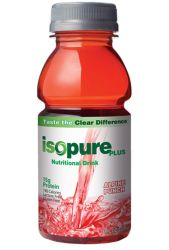 Nature's Best Isopure Plus RTD 0 Carb Protein Drink Alpine Punch, 24 x 8 Oz