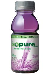 Nature's Best Isopure Plus RTD 0 Carb Protein Drink Grape Frost, 24 x 8 Oz